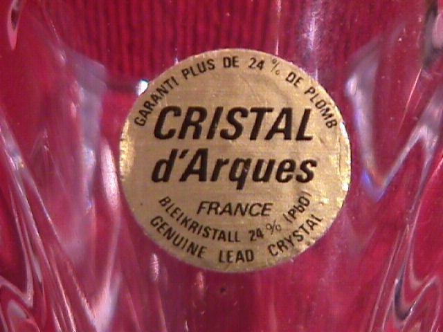 Cristal d' Arques= Bud Vase