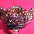 Amethyst Carnival Glass, Signed Northwood (Memphis Punch Set)