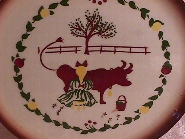 Brock China (Country Lane-Brown) Salad Plate