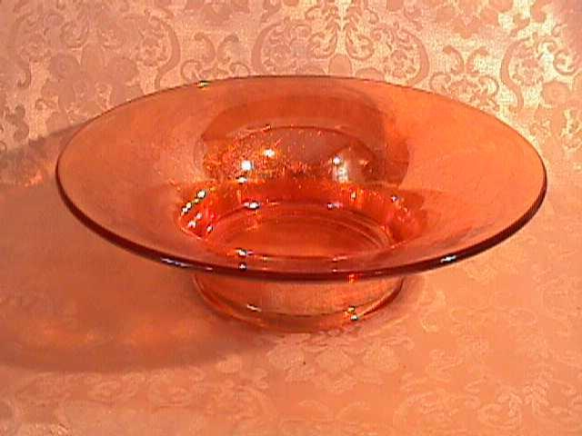CARNIVAL GLASS IMPERIAL / JEANETTE CRACKEL CONSOLE BOWL