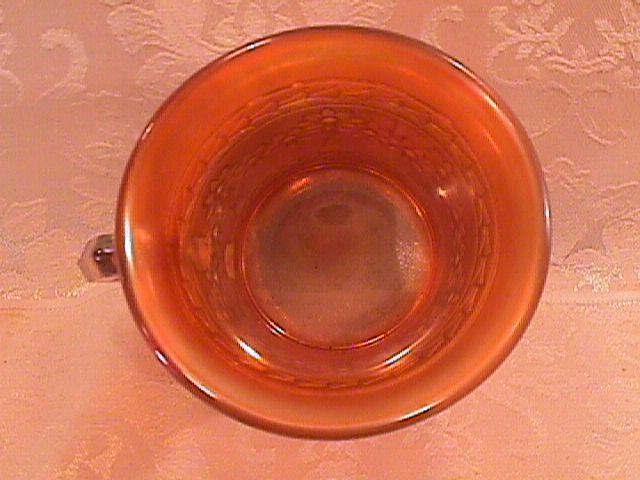 CARNIVAL GLASS FENTON ORANGE TREE MUG HONEY MARIGOLD