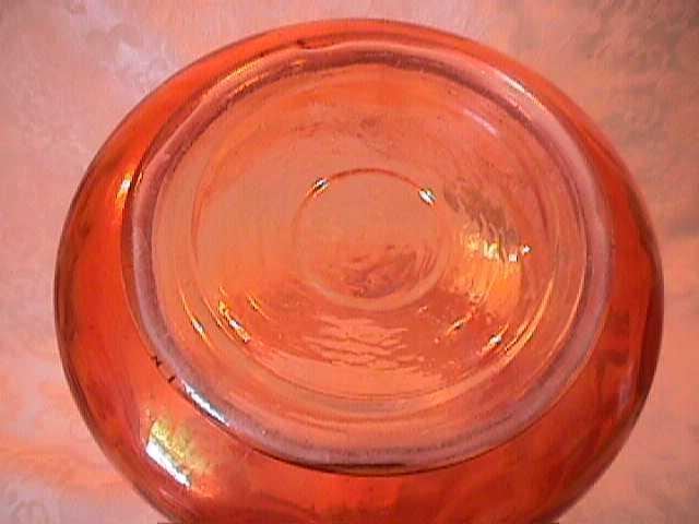 FENTON ZIG ZAG ENAMELD WATER PITCHER PINK DAISY MARIGOL CARNIVAL GLASS