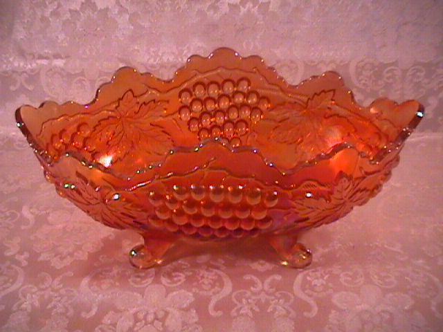 NORTHWOOD GRAPE & CABLE BANANA BOAT PUMPKIN MARIGOLD CARNIVAL GLASS