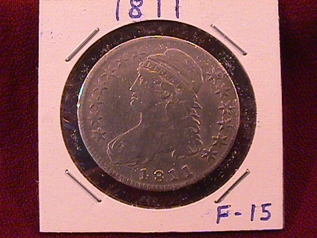CAPPED BUST HALF DOLLAR 1811 FINE-15