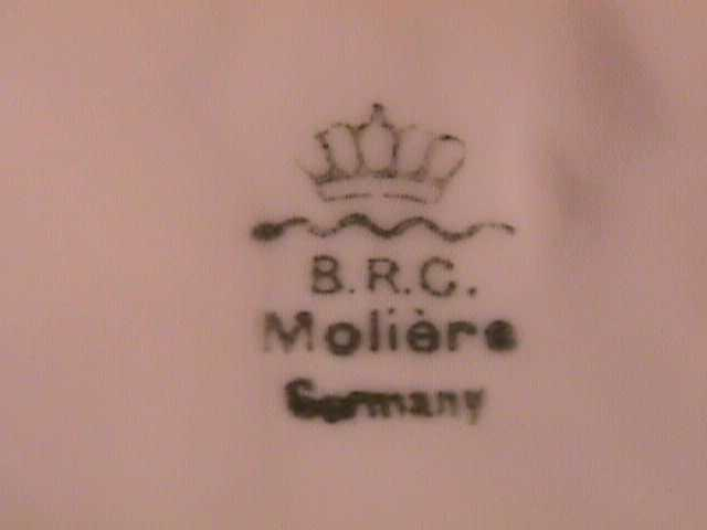 B.R.C. MOLIER SPILL PITCHER PORCELAIN GERMANY