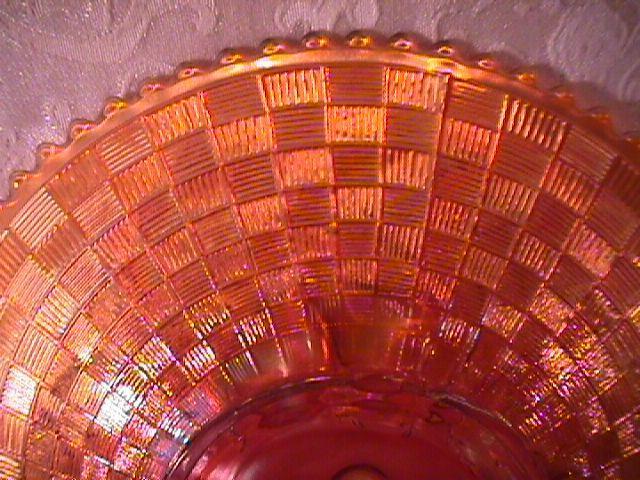 CARNIVAL GLASS THREE FRUITS PLATE PUMPKIN MARIGOLD NORTHWOOD