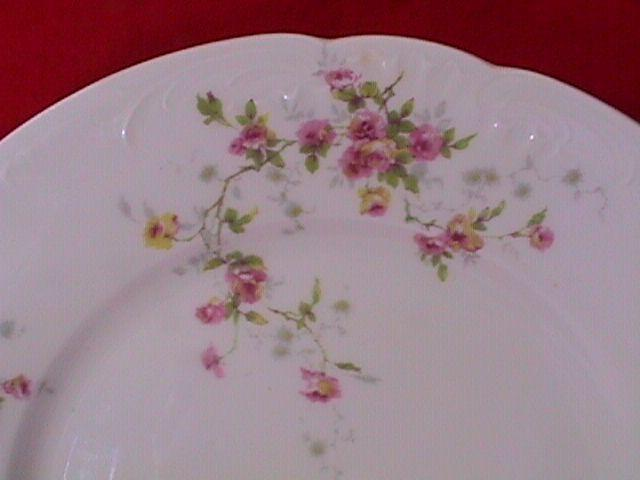 THEODORE HAVILAND LIMOGES FRANCE 3 LUNCH PLATES ? PATTERN