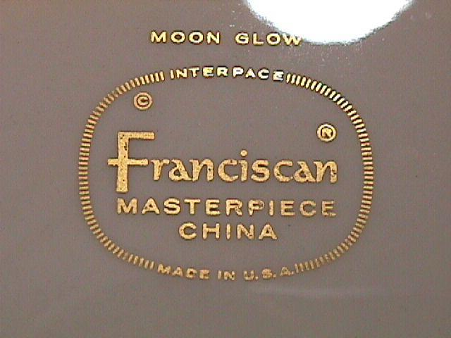 FRANCISCAN MOON GLOW 1 GRAVY SET 2 PIECE