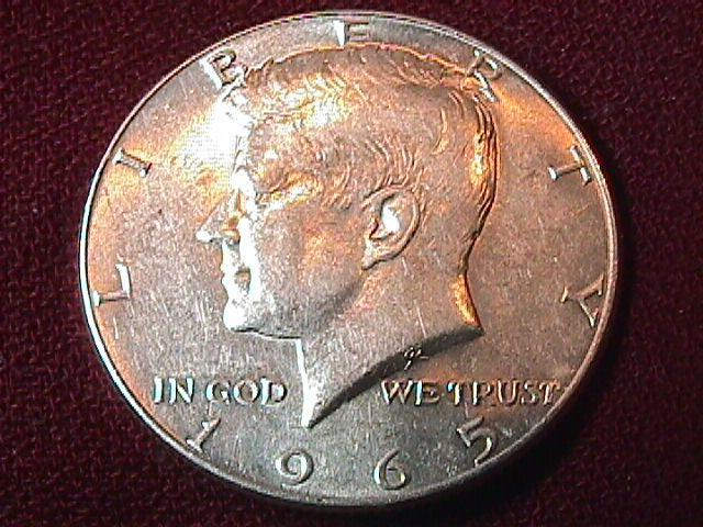 KENNEDY HALF DOLLAR 1965-P MS-65
