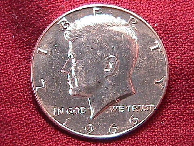 KENNEDY HALF DOLLAR 1966-P MS-65