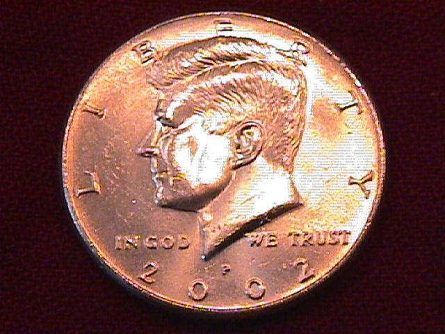KENNEDY HALF DOLLAR 2002-P MINT STATE-63+++