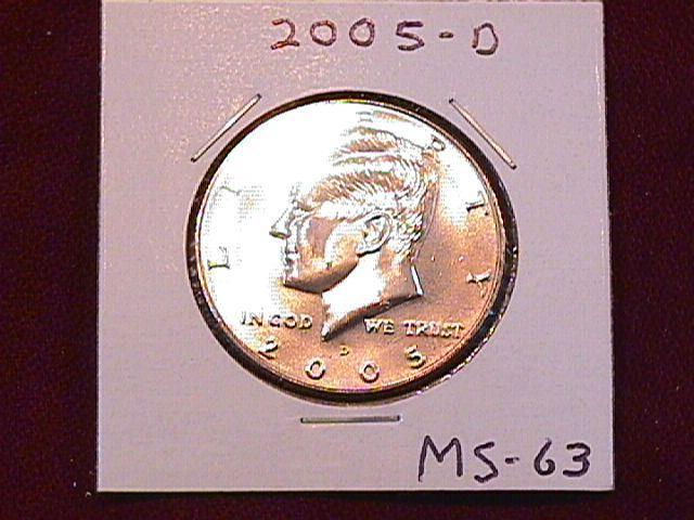 KENNEDY HALF DOLLAR 2005-D MINT STATE-63+++