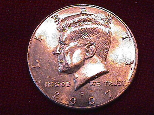 KENNEDY HALF DOLLAR 2007-D MINT STATE-63+++
