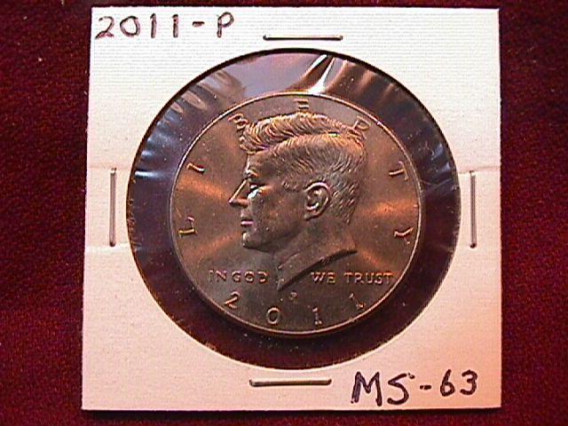 KENNEDY HALF DOLLAR 2011-P MINT STATE-63+++