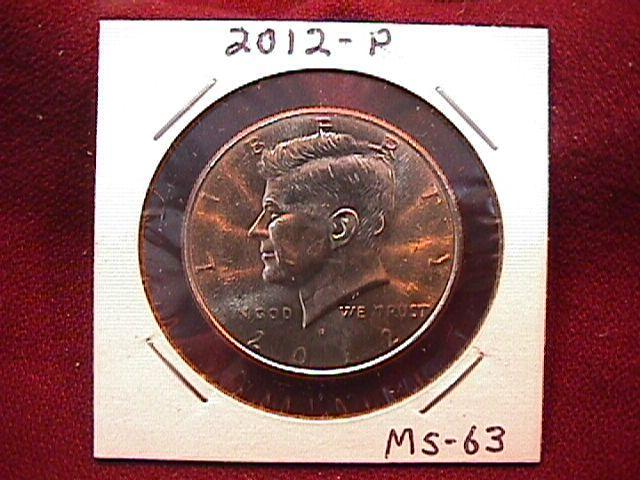 KENNEDY HALF DOLLAR 2012-P MINT STATE-63+++