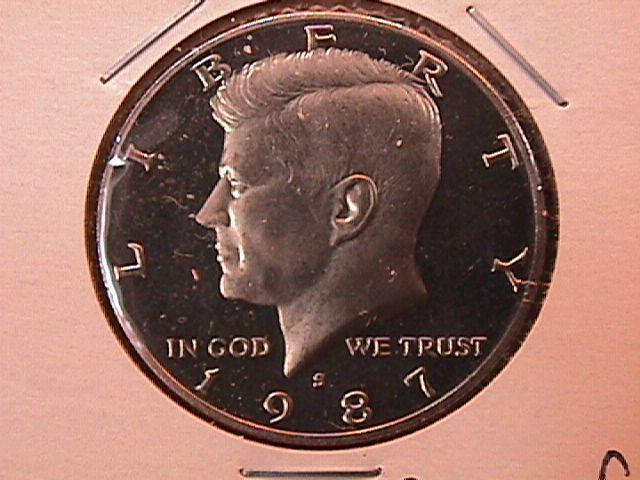 KENNEDY HALF DOLLAR 1987-S CIRCULATED PROOF