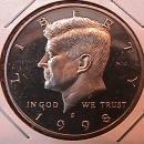 KENNEDY HALF DOLLAR 1998-S CIRCULATED PROOF