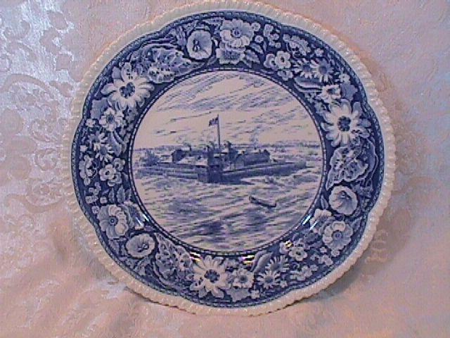 ROYAL CAULDON BLUE TRANSFER WARE