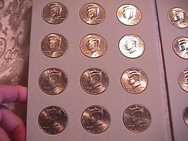 KENNEDY HALF CLAD SET  2002-P&D TO 2016-P&D  COMPLETE 30 COINS  UNC. HARRIS FOLDER