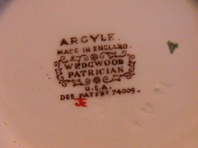 WEDGWOOD ARGYLE TL-397 Covered Sugar 4 1/4
