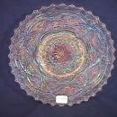 CARNIVAL GLASS PERSIAN GARDEN PLATE WHITE BY: DUGAN