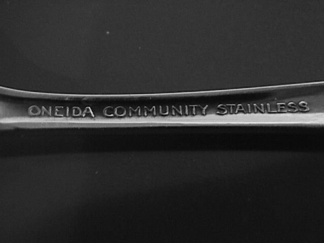 Oneida Community Stainless My Rose Cold Meat Fork