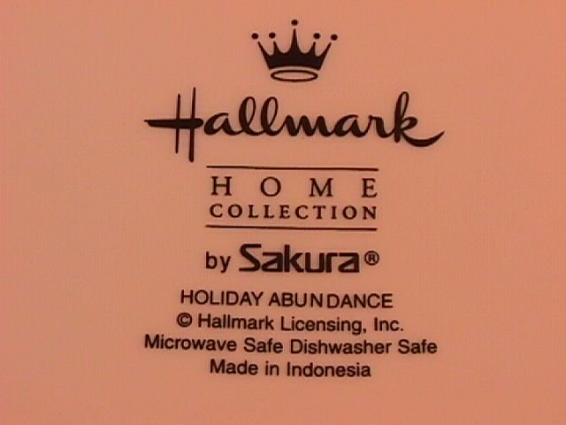 Sakura Halllmark Holiday Abundance Creamer