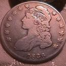 CAPPED BUST HALF DOLLAR  DATED -1836 GRADED VERY FINE -20   Condition