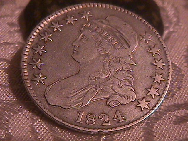 CAPPED BUST HALF DOLLAR  DATED -1824 GRADED VERY FINE -30   Condition