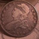 CAPPED BUST HALF DOLLAR  DATED 1819  GRADED VERY FINE -20   Condition