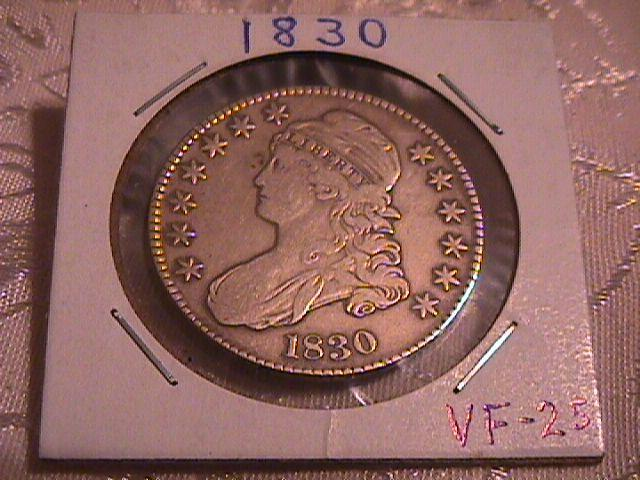 CAPPED BUST HALF DOLLAR  DATED -1830 SMALL O GRADED VERY FINE -25   Condition