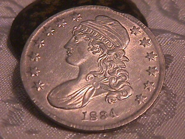 Capped Bust Half Dollar Coin 1834 SMALL DATE SMALL LETTERS High Grade= Almost Uncirculated 58