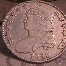 CAPPED BUST HALF DOLLAR 1825 GRADED FINE-15