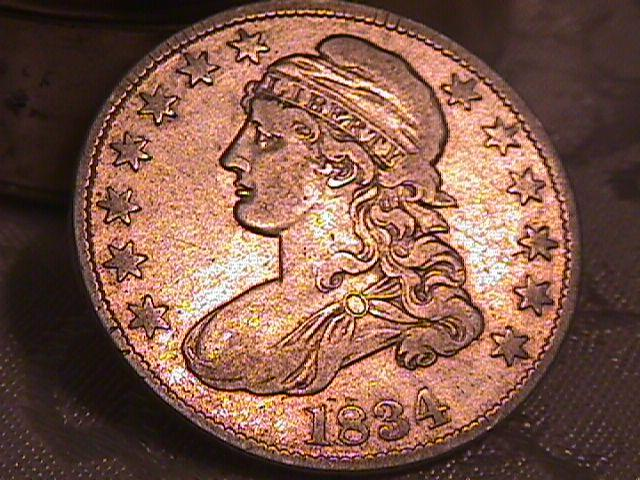 CAPPED BUST HALF DOLLAR  DATED -1834 LARGE DATE, SMALL LETTERS GRADED VERY FINE -25   Condition