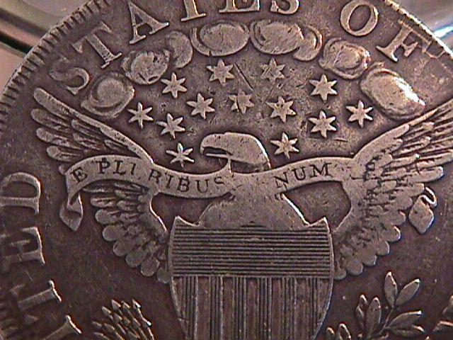 DRAPED BUST/HERALDIC EAGLE SILVER DOLLAR 1798
