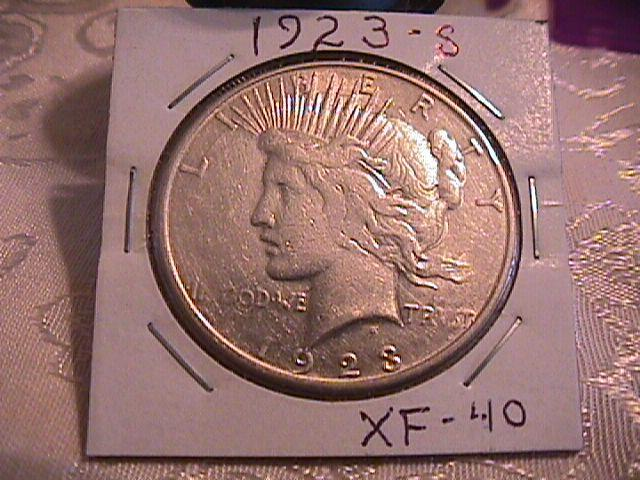 Peace Type Silver Dollar 1923-S EXTREMELY FINE #-40 Condition