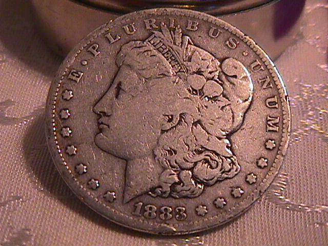 MORGAN 1883-S SILVER DOLLAR VERY GOOD -8 MINTAGE OF 6,250,000 SEMI KEY