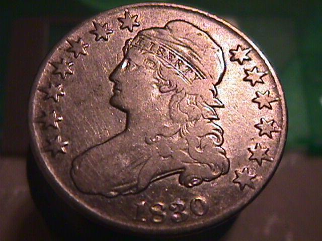 CAPPED BUST HALF DOLLAR  DATED -1830 LARGE O GRADED VERY FINE -20   Condition