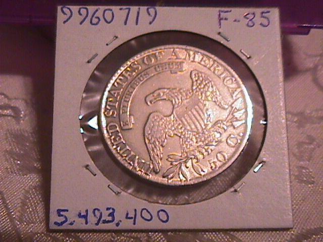 CAPPED BUST HALF DOLLAR  DATED -1827 SQUARE BASE 2  GRADED AU-53   Condition