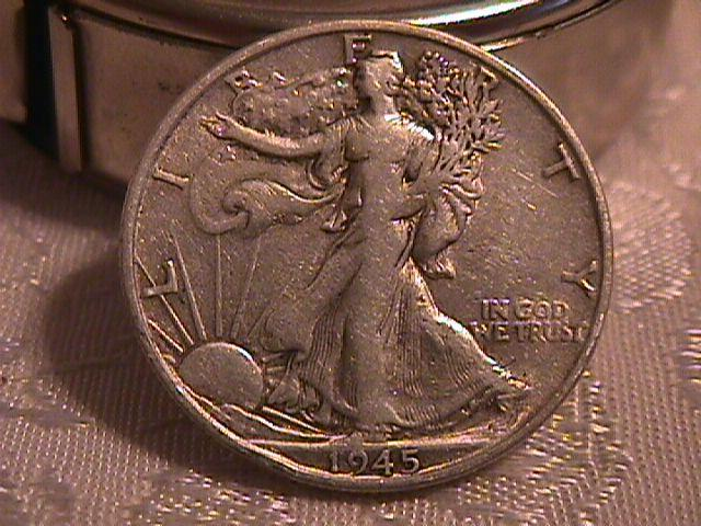 LIBERTY WALKING  HALF DOLLAR  DATED -1945-S GRADED VERY FINE -35   Condition