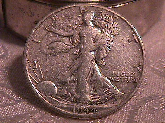 LIBERTY WALKING  HALF DOLLAR  DATED -1944-D GRADED EXTREMELY FINE -45   Condition
