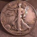 LIBERTY WALKING  HALF DOLLAR  DATED -1945-P GRADED VERY FINE -35   Condition