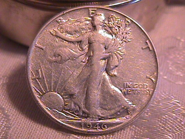 LIBERTY WALKING  HALF DOLLAR  DATED -1946-P GRADED EXTREMELY FINE -45   Condition