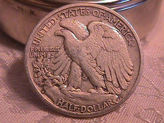 LIBERTY WALKING  HALF DOLLAR  DATED -1941-D GRADED EXTREMELY FINE -45   Condition