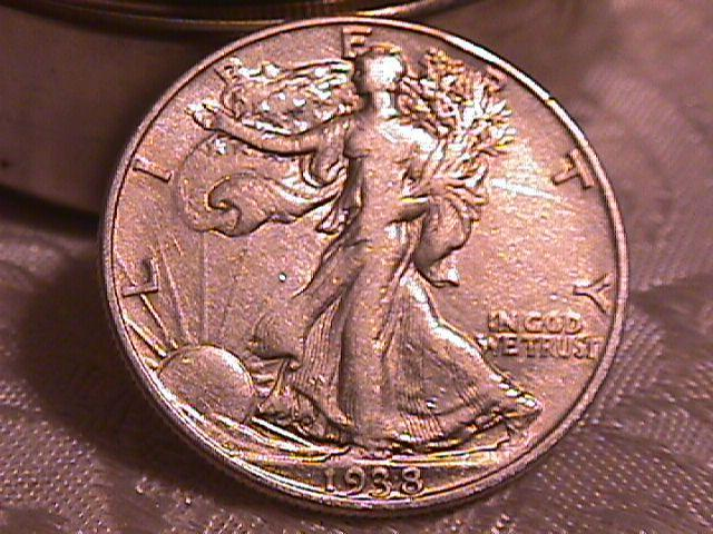 LIBERTY WALKING  HALF DOLLAR  DATED -1938-P GRADED EXTREMELY FINE -45   Condition