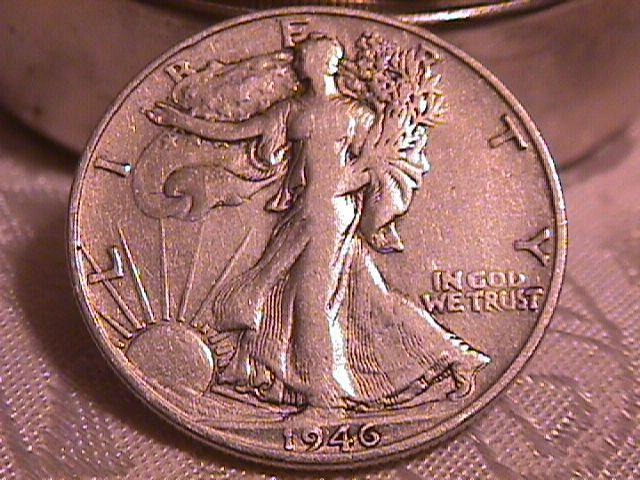 LIBERTY WALKING  HALF DOLLAR  DATED -1946-S GRADED EXTREMELY FINE -45   Condition