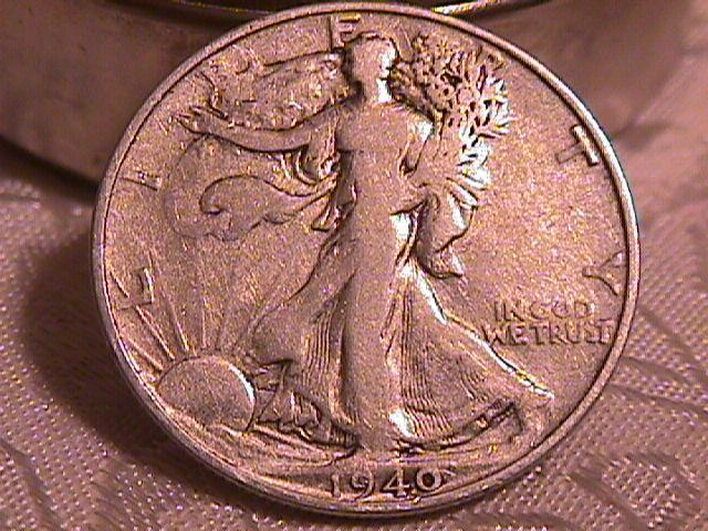 LIBERTY WALKING  HALF DOLLAR  DATED -1940-S GRADED EXTREMELY FINE -40   Condition