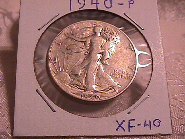 LIBERTY WALKING  HALF DOLLAR  DATED -1940-P GRADED EXTREMELY FINE -40   Condition