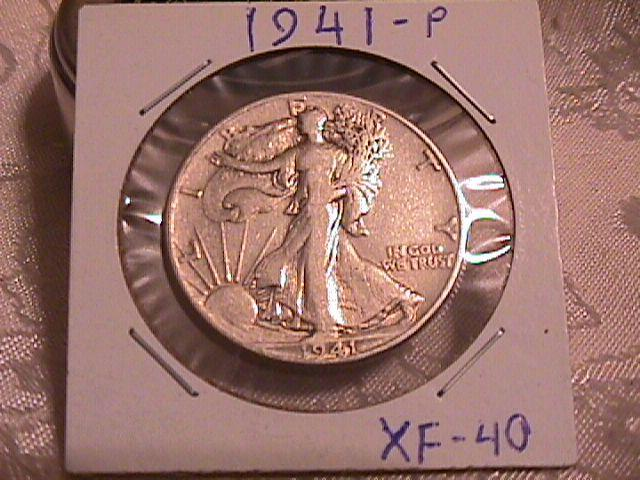 LIBERTY WALKING  HALF DOLLAR  DATED -1941-P GRADED EXTREMELY FINE -40   Condition