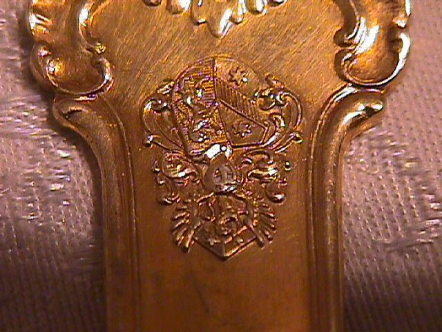 HUMBERT & SHON 4 PIECE SETTING .750 SILVER (GOLD OVER) CIRCA 1850 GERMANY